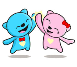 MR AND MRS BEAR ( IN LOVE ) sticker #313310