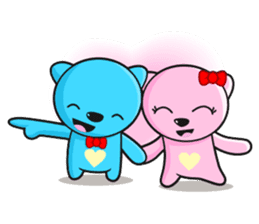 MR AND MRS BEAR ( IN LOVE ) sticker #313312