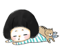 Mr.Cats and Maid girl loosely sticker sticker #313473