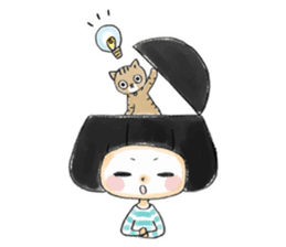 Mr.Cats and Maid girl loosely sticker sticker #313477
