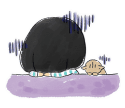 Mr.Cats and Maid girl loosely sticker sticker #313479