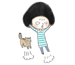 Mr.Cats and Maid girl loosely sticker sticker #313480