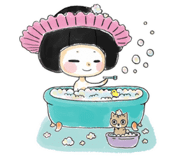 Mr.Cats and Maid girl loosely sticker sticker #313486