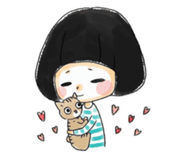 Mr.Cats and Maid girl loosely sticker sticker #313487