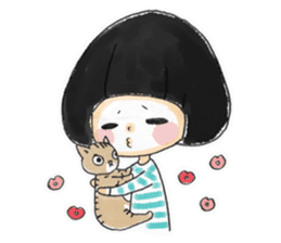 Mr.Cats and Maid girl loosely sticker sticker #313488