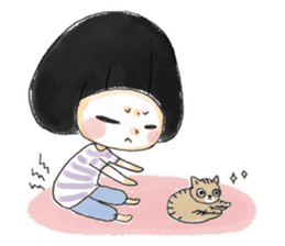 Mr.Cats and Maid girl loosely sticker sticker #313492