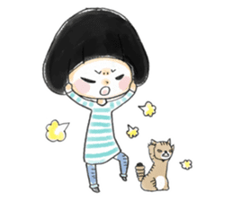 Mr.Cats and Maid girl loosely sticker sticker #313493