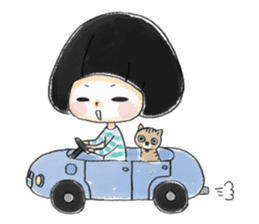 Mr.Cats and Maid girl loosely sticker sticker #313494