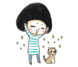 Mr.Cats and Maid girl loosely sticker sticker #313495