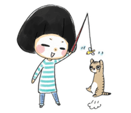 Mr.Cats and Maid girl loosely sticker sticker #313500
