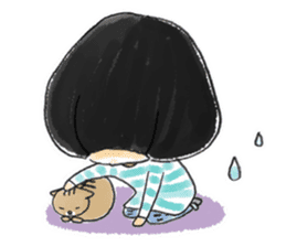 Mr.Cats and Maid girl loosely sticker sticker #313502