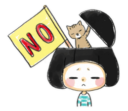 Mr.Cats and Maid girl loosely sticker sticker #313504