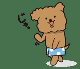 Selfish poodle sticker #313950