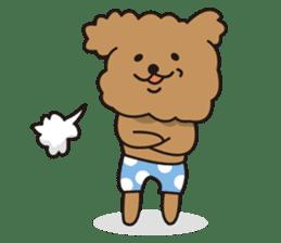 Selfish poodle sticker #313951