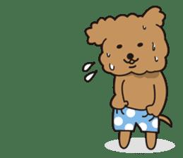 Selfish poodle sticker #313955