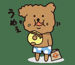 Selfish poodle sticker #313956