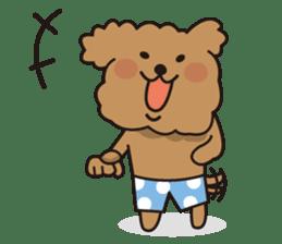 Selfish poodle sticker #313957