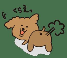 Selfish poodle sticker #313961