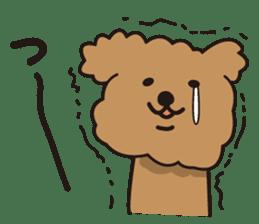 Selfish poodle sticker #313962