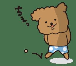 Selfish poodle sticker #313964