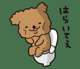 Selfish poodle sticker #313967