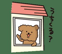 Selfish poodle sticker #313969