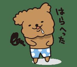 Selfish poodle sticker #313972