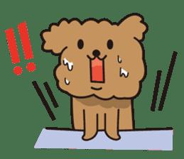 Selfish poodle sticker #313975