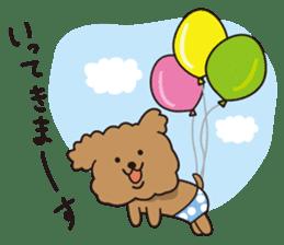 Selfish poodle sticker #313976