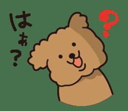 Selfish poodle sticker #313979