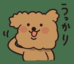 Selfish poodle sticker #313980