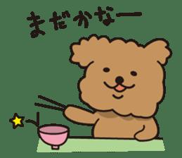 Selfish poodle sticker #313982