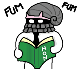 Gentleman on the seafloor 'SUKE-OJISAN' sticker #314020
