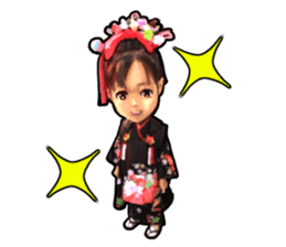 girl and cat sticker #315570
