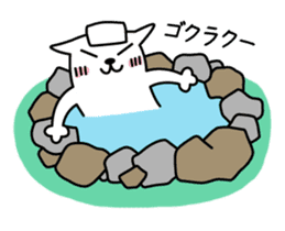 TOFU -White Cat - 2 sticker #315988
