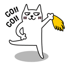 TOFU -White Cat - 2 sticker #315998