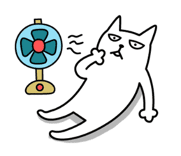 TOFU -White Cat - 2 sticker #316003
