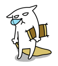 TOFU -White Cat - 2 sticker #316017