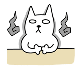 TOFU -White Cat - 2 sticker #316021