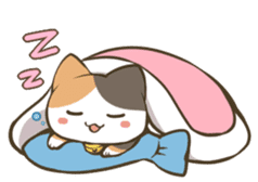 a calico cat MI-KE sticker #316666