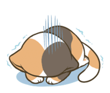 a calico cat MI-KE sticker #316668