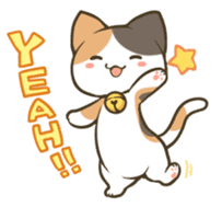 a calico cat MI-KE sticker #316676
