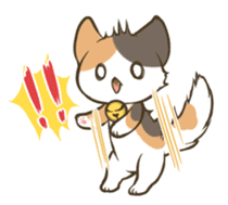 a calico cat MI-KE sticker #316678