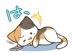 a calico cat MI-KE sticker #316685