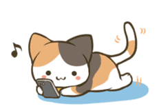 a calico cat MI-KE sticker #316686