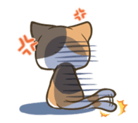a calico cat MI-KE sticker #316690