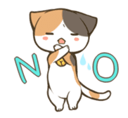 a calico cat MI-KE sticker #316692