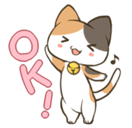 a calico cat MI-KE sticker #316696