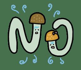 Feeling of mushroom sticker #316873