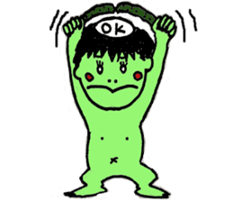 GREEN DEVIL - KAPPY - sticker #319395